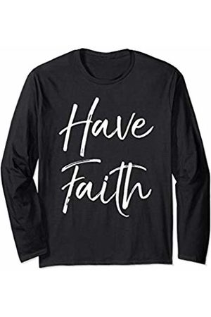 P37 Design Studio Jesus Shirts Christian Quote Gift for Women Trust in Jesus Have Faith Long Sleeve T-Shirt