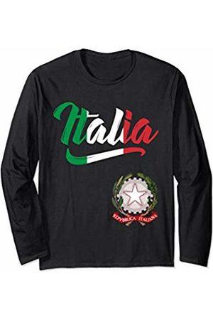 Tee Styley Italia Flag Italian Coat Of Arms Italy Italiano Men Women Long Sleeve T-Shirt