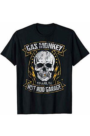 Gas Monkey Garage Skull Ribbon Distressed Poster T-Shirt