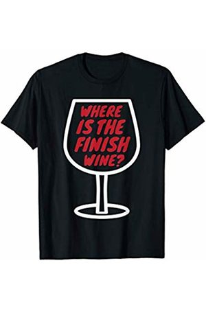 Shirtbooth: Running Workout Gym 'Where Is The Finish Wine?' Fitness Gift Running T-Shirt