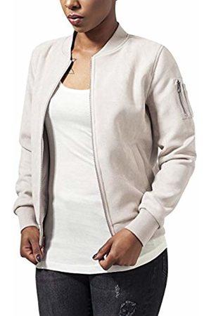 Urban classics Women's Ladies Imitation Suede Bomber Jacket Off- - Elfenbein (Sand 208)
