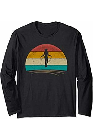 Wowsome! Rope Jump Shirt Retro Vintage Rope Skipping Gifts Women Long Sleeve T-Shirt
