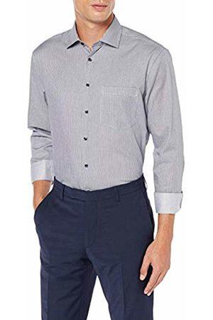 Seidensticker Men's Modern Fit - Gestreiftes, Bügelfreies Hemd Mit Geradem Schnitt, Kent-Kragen & Brusttasche - Langarm - 100% Baumwolle Formal Shirt