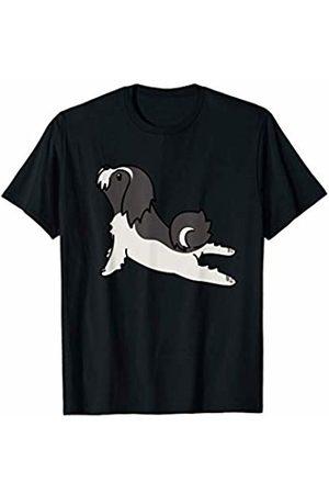 Funny Lhasa Apso Clothing Lhasa Apso Yoga Pose Funny Dog Gift T-Shirt