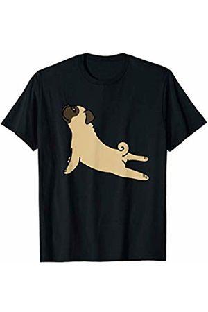 Funny Pug Clothing Pug Yoga Pose Funny Dog Gift T-Shirt