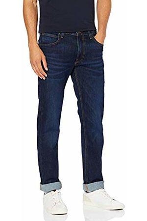 Lee Men's DAREN ZIP FLY Straight Leg Straight Jeans, (Dark Elko Bu)