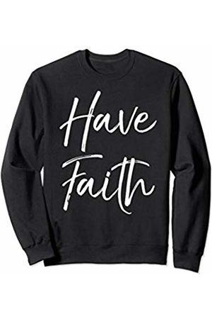 P37 Design Studio Jesus Shirts Women Sweatshirts - Christian Quote Gift for Women Trust in Jesus Have Faith Sweatshirt