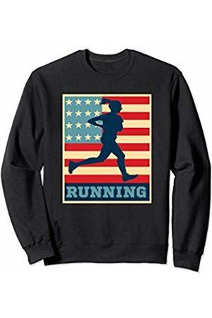 Running Outdoor Sports Gifts Ladies USA Flag Girls Marathon Running Gym Runner Sports Sweatshirt