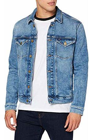 Tommy Hilfiger Men's Regular Trucker Jacket (Dallas Mid Bl Com 911)