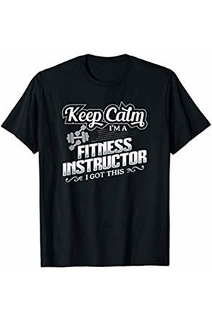 Fitness Profession Gifts Funny Fitness Instructor Gym Coach Keep Calm Gift T-Shirt