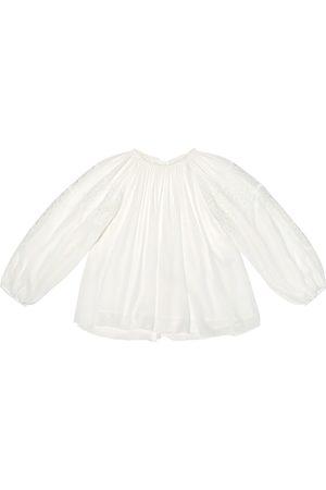 Chloé Girls Tops - Plisse floral-lace top