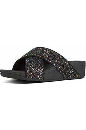 FitFlop Women's Lulu Glitter Slides Open Toe Sandals, Mix 231