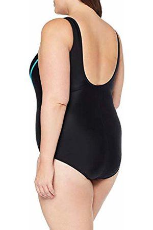Ulla Popken Women's Badeanzug, Streifen, Große Größen Swimsuit