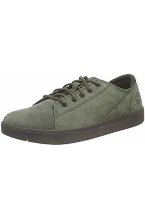 Timberland Unisex Kids' Davis Square Leather Oxford Low-Top Sneakers, Dark Nubuck