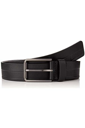HUGO BOSS Men's Tylir-Stripe_sz35 Belt, ( 001)