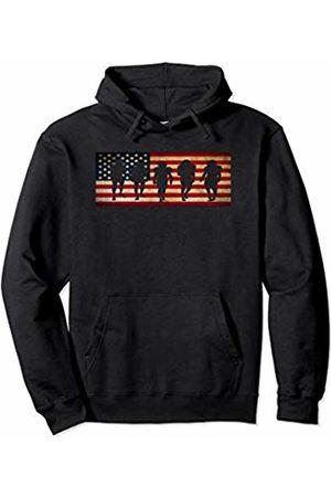 Sports Fan Shirts For Men Women Vintage Football Team Player Sport Fan US Flag Men Pullover Hoodie