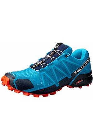 Salomon Men's Trail Running Shoes, Speedcross 4, Fjord /Navy Blazer/Cherry Tomato