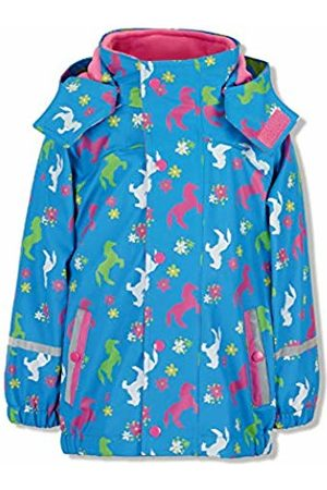Sterntaler Baby Girls Regenjacke Mit Innenjacke Chaqueta Impermeable, Azul (Azurblau 396), 92 para Bebés Waterproof Jacket