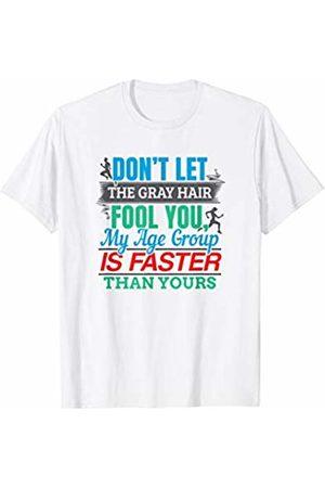 Runner Half Marathon Training Gear Funny Senior Runner Running Gear - Elderly Gray Hair Quote T-Shirt