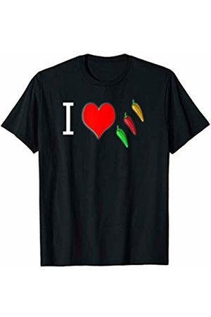 Buy Cool Shirts I Love Spicy Chili Peppers T-Shirt