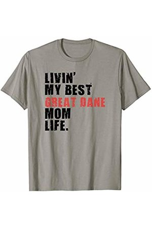 Swesly Dog Livin' My Best Great Dane Mom Life ADC050d T-Shirt