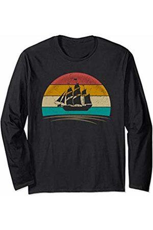 Wowsome! Sail Boat Shirt Retro Vintage Sailing Lover Gifts Men Women Long Sleeve T-Shirt