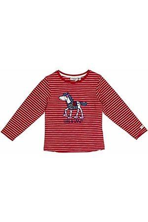 Salt & Pepper Salt and Pepper Girls' Cool & Crazy Pferd mit Pailetten Longsleeve T-Shirt, (Cherry 337)