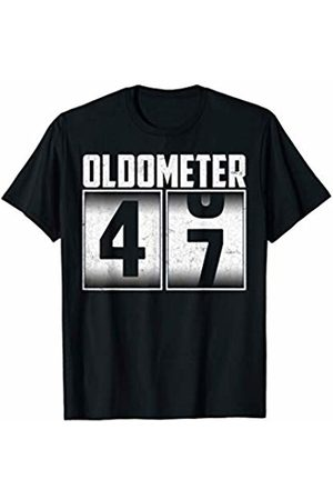 Oldometer Happy Birthday Gifts Oldometer 47 - 47th Birthday 47 Years Old Gifts Men Women T-Shirt