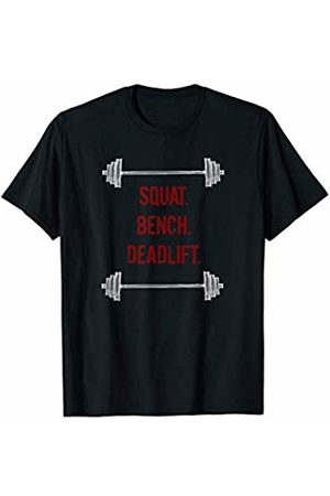 Powerlifting Squat Bench Deadlift Tees & Gifts Powerlifting Vintage Look Motivational Lifting Gym T-Shirt