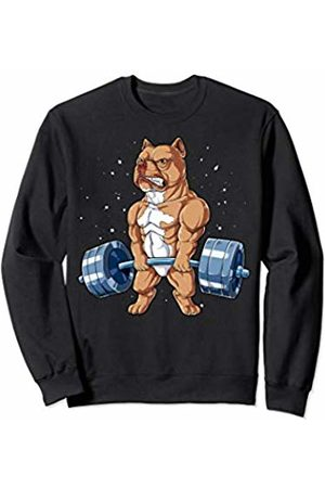 Pit Bull DU Clothing Pit Bull Weightlifting Funny Deadlift Men Fitness Gym Gifts Sweatshirt