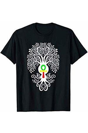 Buy Cool Shirts Bodhi Tree with Rasta Ankh Yoga T-Shirt