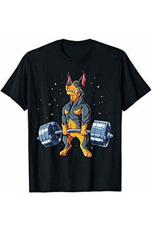 Doberman DU Clothing Doberman Weightlifting Funny Deadlift Men Fitness Gym Gifts T-Shirt