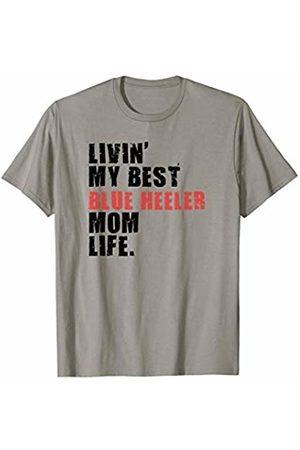 Swesly Dog Livin' My Best Blue Heeler Mom Life ADC027d T-Shirt