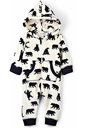 Hatley Little Blue House Women's Hooded Fuzzy Fleece Family Jumpuits Onesie, (Infant Jumpsuit - Bears On Natural)