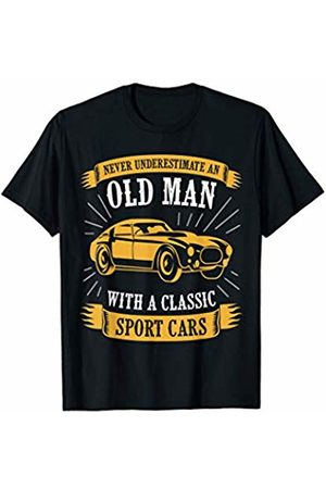 classic sport gift tee Never underestimate an old man with classic sport cars shirt