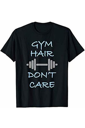 Workout and Fitness Tee Gym Hair Don't Care | Funny Workout