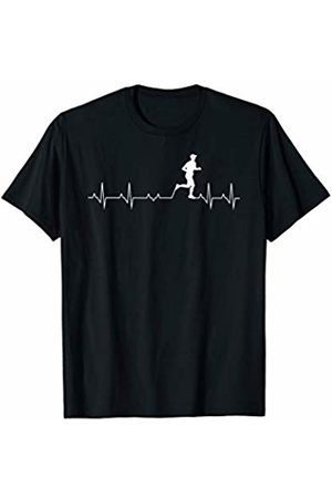 Tanim Mens Heartbeat Running Heartbeat Top or Gift For Men or Him T-Shirt