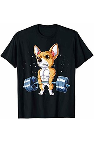 Chihuahua DU Clothing Chihuahua Weightlifting Funny Deadlift Men Fitness Gym Gifts T-Shirt