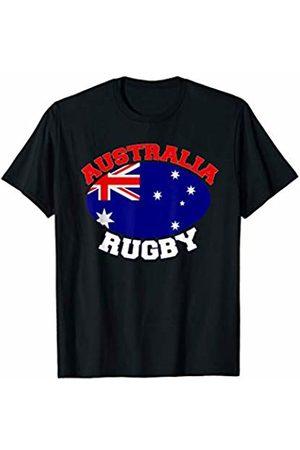 Rugby Ball designsanddesigns Australia Flag Rugby Ball Sports Players Australian Gifts T-Shirt