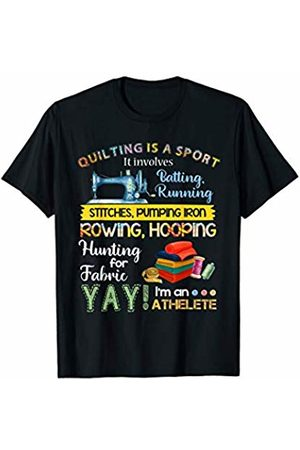 Funny Crochet Gift for Crochet lover Quilting Is A Sport It Involves Batting Running Stitches T-Shirt