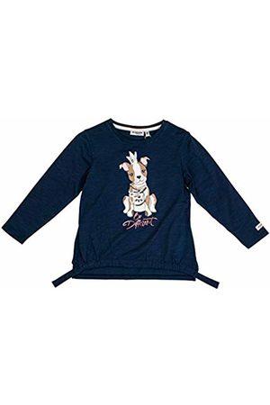 Salt & Pepper Salt and Pepper Girls' Cool & Crazy Hund mit Perlenkette Longsleeve T-Shirt, (Indigo 429)