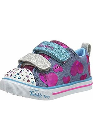Skechers Girls' Twinkle Toes Shuffles Burst O' Fun S Lights Shoe BlackMulti
