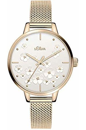 s.Oliver Womens Analogue Quartz Watch with Stainless Steel Strap SO-3838-MQ