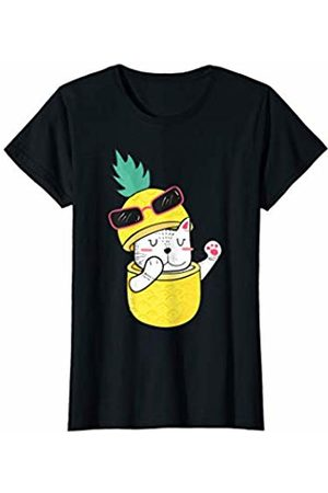 Havous Cute Pineapple Cat Funny Ananas Fruit T-Shirt