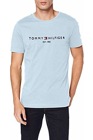 Tommy Hilfiger Men's Tommy Flag Hilfiger Tee Sports Shirt, (Chambray 422)