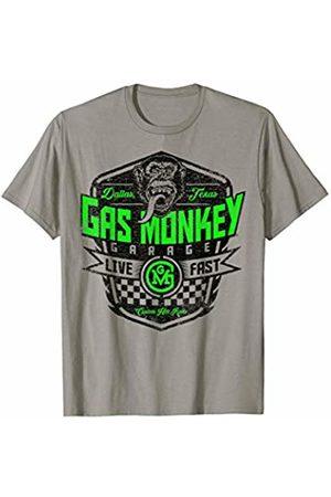 Gas Monkey Garage Neon Green Letter Fill Poster T-Shirt