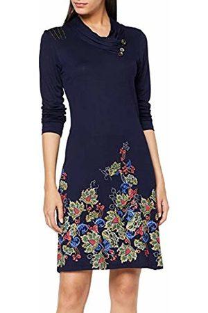 Joe Browns Women's Border Print Dress (Navy A) A