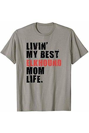 Swesly Dog Livin' My Best Elkhound Mom Life ADC045d T-Shirt