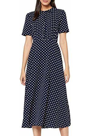 Joe Browns Women's Bubble Crepe Polka Dot Dress (Navy/ (Size:12)
