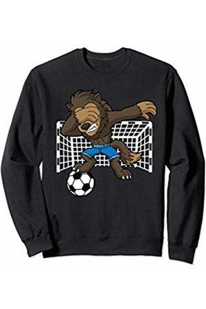 Spooktacular Halloween Co Gift Shop Soccer Dabbing Werewolf Halloween Funny Sports Kids Boys Men Sweatshirt
